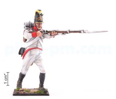 Ιδιωτική, με εντολή «Φωτιά!». Γραμμή πεζικού Αυστρίας-Ουγγαρίας, 1805-1814