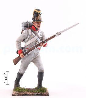 Рядовой, положение «На руку». Линейная пехота Австро-Венгрии, 1805-1814 гг.