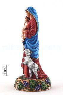 Blessed Virgin Mary with a Baby and a lamb