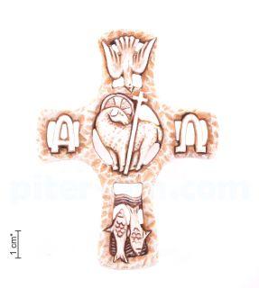 Крест c христианскими символами (настенный)