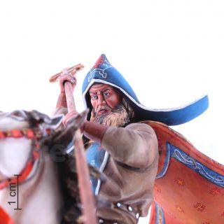 Св. инок Александр Пересвет на коне