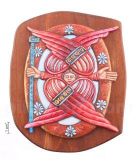 Плакетка «Защитник» (Херувим) в киоте