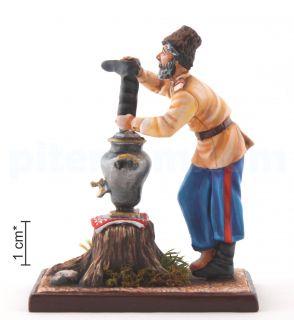 Русский казак с самоваром